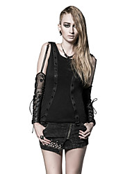 T-339 Women's Casual/Daily Vintage Punk & Gothic Spring Fall T-shirt