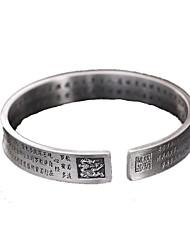 Pulseiras Bracelete Prata de Lei Diário Casual Jóias Dom Prateado,1peça