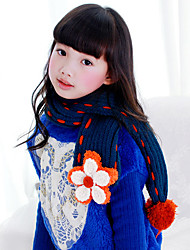 Girl's Fashion Knitting Winter Going out/Casual/Daily Warmth Flower Hand-made Neckerchief Children Scarf