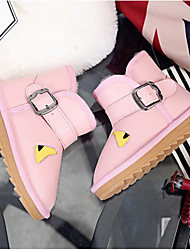 Boys' Boots Cowhide Winter Outdoor Casual Snow Boots Flat Heel Black Brown Light Pink Under 1in