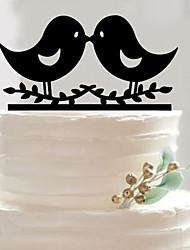 Acrylic bird lovers wedding cake inserted beautifully decorated birthday cake inserted card