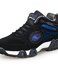 Homme Chaussures d'Athlétisme Confort Cuir Hiver Décontracté Confort Couture en Dentelle Lacet Talon Plat Vert Bleu royal 5 à 7 cm
