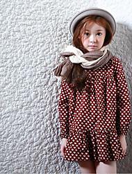 Girl's Casual/Daily Polka Dot Dress,Rayon Spring Fall Long Sleeve