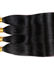 Vinsteen Indian Peruvian Malaysian Unprocessed Straight 4pcs 100g/pcs Human Hair Weave Natural Color Dyeable Shiny Human Hair Extensions