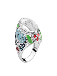 Women's Ring Colorful Luxury Zircon Alloy Jewelry For Daily Casual