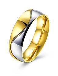 Ring Schmuck Stahl Golden Schmuck Normal 1 Stück