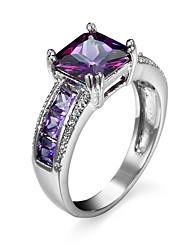 Ringe Kubikzirkonia Normal Schmuck Aleación Damen Ring 1 Stück,6 7 8 9 10 13 Silber