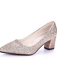 Для женщин Обувь на каблуках Удобная обувь сутулятся сапоги Ткань Весна Лето Осень Повседневные Для прогулокУдобная обувь сутулятся
