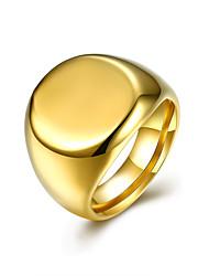 Ring Edelstahl Titanstahl Simple Style Modisch Golden Schmuck Alltag Normal 1 Stück