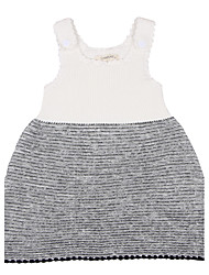 Girl's Going out Casual/Daily Holiday Color Block Print Embroidered Dress,Cotton Knitwear All Seasons Sleeveless
