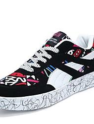 Da uomo-scarpe da ginnastica-CasualPiatto-PU (Poliuretano)-Bianco/nero Arancione e nero