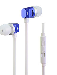 HUAST HST-55 Plastic shell earphone with microphone in ear earphones for girls head phone earbuds noodle line For mp3
