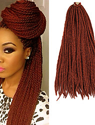 Box Braids Twist Braids Auburn Hair Braids 24Inch Kanekalon 90g Synthetic Hair Extensions
