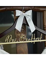 Personalized Wedding Hanger Bridal Bridesmaid Wood Name Wedding Dress Hanger Shower Gift