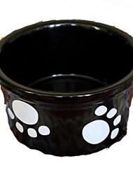 Собака Кормушки Животные Чаши и откорма Отражение Черный Керамика