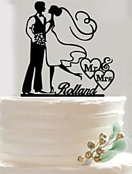 Custom yakeli the bride and groom wedding cake inserted fine decoration birthday cake inserted card