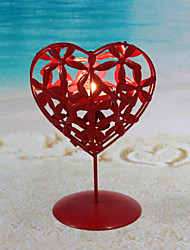 Wholesale Iron Heart-shaped Wedding Candlestick Creative Wedding Party Desktop Decorations Candlestick Valentine's day Decorations