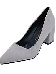 Для женщин Обувь на каблуках Удобная обувь сутулятся сапоги Полиуретан Осень Зима Повседневные Удобная обувь сутулятся сапоги МолнииНа