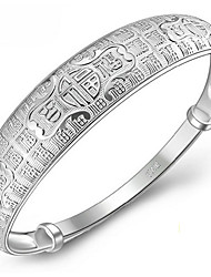 Bracelet Bangles Sterling Silver Alphabet Shape Natural Birthday Gift Valentine Jewelry Gift Silver,1pc