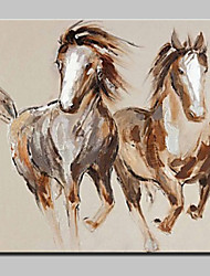 Large Hand Painted Horses Animal Oil Painting On Canvas Modern Abstract Wall Art Pictures For Living Room Home Decoration Ready To Hang