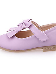 Girl's Oxfords Spring Fall Comfort PU Casual Flat Heel Magic Tape Pink Purple White Walking
