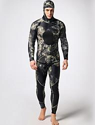 Муж. 3mm Гидрокостюмы Drysuits Полное Гидрокостюмы Водонепроницаемый Сохраняет тепло Пригодно для носки Удобный Нейлон резина LYCRA®