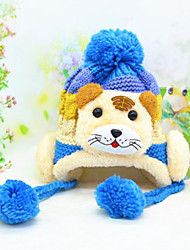 Boy's Fashion Winter Going out/Casual/Daily Knitting Keep Warm Bear Patchwork Headgear Baby Cap Children's Hat