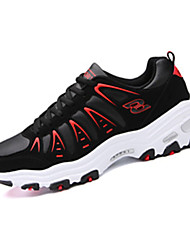 Women's Athletic Shoes Spring Fall Comfort Fabric Athletic Flat Heel Lace-up Black Green Red Silver