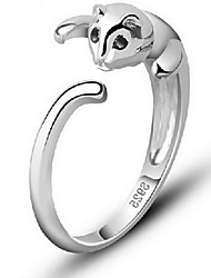 Jewelry Women Alloy Women Silver Cat Ring