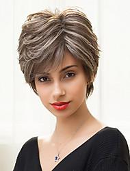 moda textura ligeiramente curto sem tampa em camadas perucas ombre reta naturais combina cabelo humano