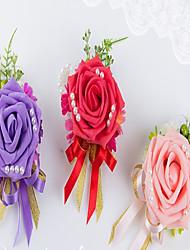 """Bouquets de Noiva Forma-Livre Buquê de Pulso Casamento Festa / noite Flôr Seca 9.84""""(Aprox.25cm)"""