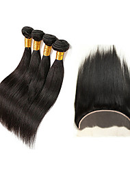 Tissages de cheveux humains Cheveux Péruviens Droit 6 Mois 5 Pièces tissages de cheveux