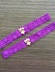 Подвязка Кружева Кружева Стразы Фиолетовый