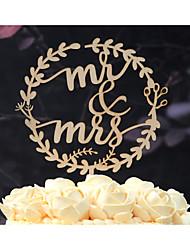 Украшения для торта Персонализированные не Классическая пара Картон Свадьба Годовщина Девичник Желтый Сад Цветы Классика Урожай Theme 1