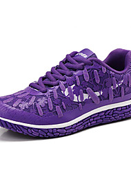 Синий Фиолетовый Красный Оливковый-Женский-Для прогулок Для занятий спортом-Полиуретан-На плоской подошве-Удобная обувь-Кеды