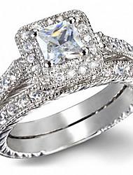 Ring Zircon Cubic Zirconia Alloy Fashion Luxury Jewelry Silver Jewelry Daily Casual 1pc