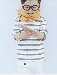 Boy Casual/Daily Striped Tee,Cotton Spring Long Sleeve