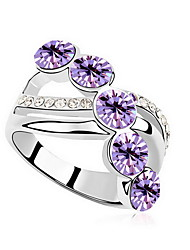 Women's Ring Crystal Zircon Austria Crystal Alloy Jewelry For Daily Casual