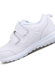 Boy's Athletic Shoes Spring Fall Comfort PU Casual Flat Heel Hook & Loop White