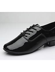 Men's Dance Shoes Leatherette Latin Low Heel Practice Beginner Professional Indoor Performance Customizable