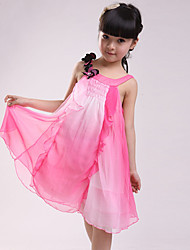 Girl's Cotton Casual Summer Going out Casual/Daily Sweet Floral Bowknot Sleeveless Chiffon Princess Dress