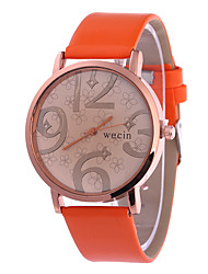 Women's Fashion Watch Wrist watch Quartz PU Band Black White Orange Brown Pink Yellow Brand