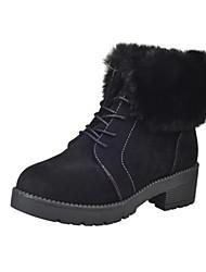 Черный Серый Темно-коричневый-Женский-Повседневный-ПолиуретанДругое-Ботинки
