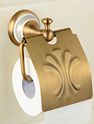 Ceramics Brass Wall-Mounted Paper Holder Bathroom Accessories Product Toilet Paper Holder