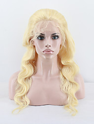 Top Grade Brazilian Virgin Hair Full Lace Wig Body Wave Hair 613 Blonde Color Virgin Human Hair Lace Wig For Woman