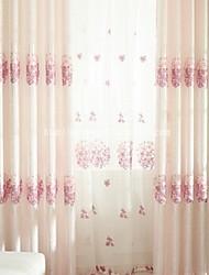 Coleção Tratamento janela Tratamento janela Moderno , Sólido Inovador Sala de Estar Mistura de Linho e Poliéster MaterialCortinas