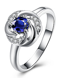 Ring Non Stone Wedding Daily Casual Jewelry Brass Silver Plated Women Ring 1pc,8 Silver