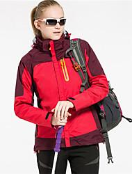 Wandern Trainingsanzug Damen Wasserdicht warm halten Windundurchlässig Frühling Herbst Winter Tactel Gelb Rot Rosa Blau S M L XL XXL