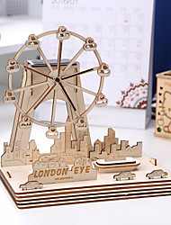 1 PC  Children 3D Three-Dimensional Puzzle Solar Wooden Handicraft Intellectual Toy Ferris Wheel Splicing Board  Home Furnishing Ornaments