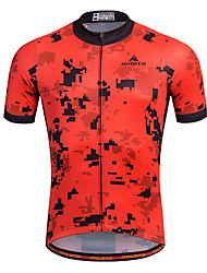 Bike/Cycling Shirt / Sweatshirt / Jersey Men's Short SleeveBreathable / Moisture Permeability / Quick Dry / Reflective
